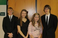 Debate team members Philip Kaul, Kassidy Forshey, Mackenzie Williams and Parker Riley